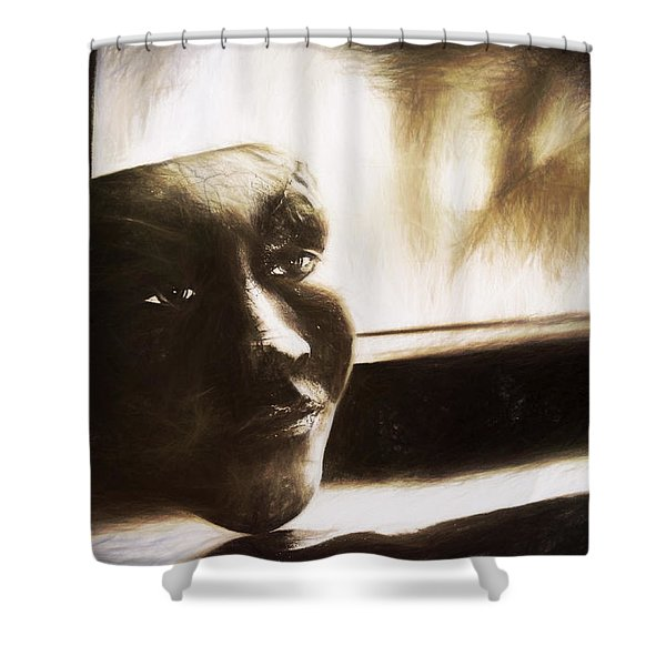 The Mask Sketch Shower Curtain