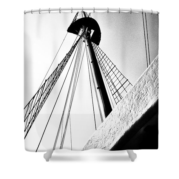The Mast Of The Peacemaker Shower Curtain