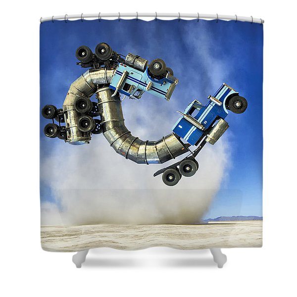 The Mating Dance Shower Curtain