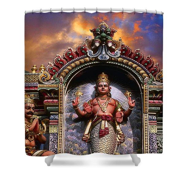 The Mermaid Princess Shower Curtain