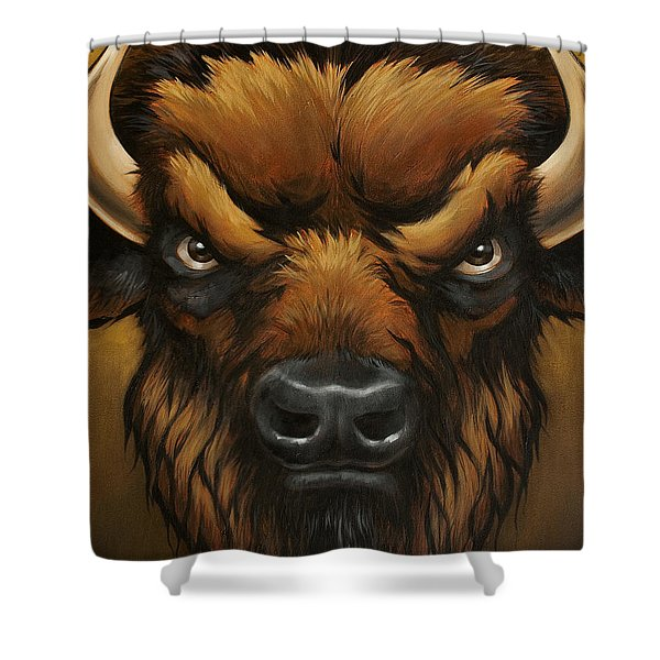 The Mighty Bison Shower Curtain