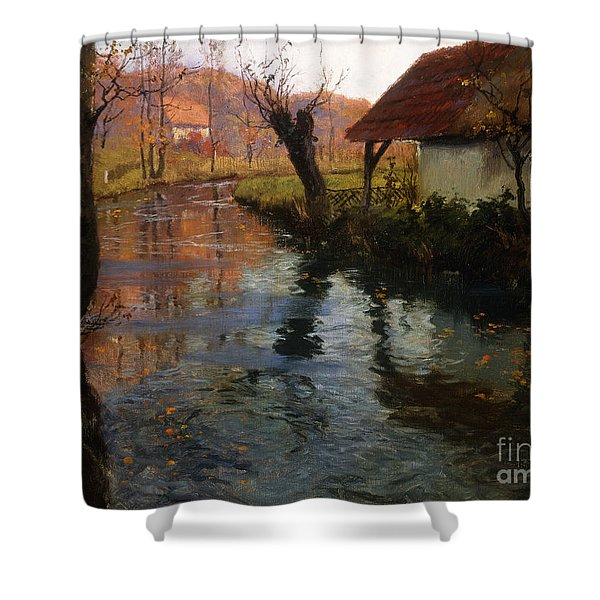 The Mill Stream Shower Curtain