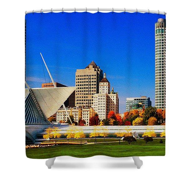 The Milwaukee Art Museum Shower Curtain