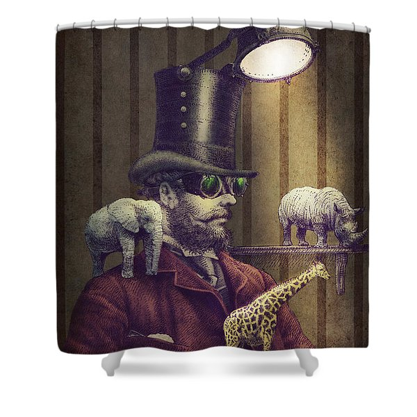 The Miniature Menagerie Shower Curtain