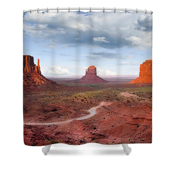 The Mittens And Merrick Butte At Sunset Shower Curtain