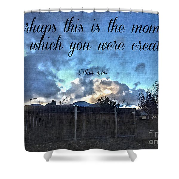 The Moment Shower Curtain