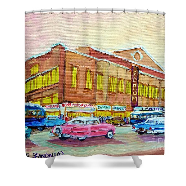 The Montreal Forum Shower Curtain