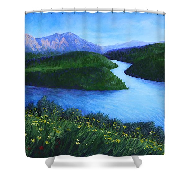 The Mountains Beyond Shower Curtain