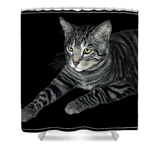 The Mouser Shower Curtain