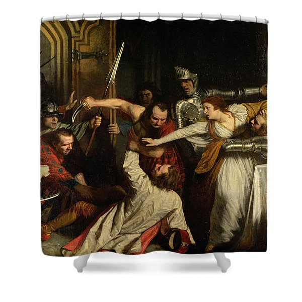 The Murder Of Rizzio, 1787 Oil On Canvas Shower Curtain