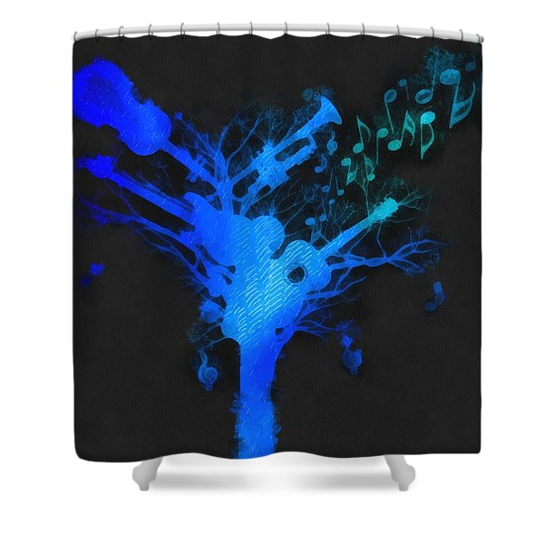 The Music Tree Shower Curtain