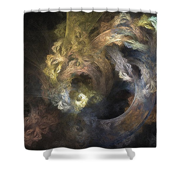 The Mystical Garden - Abstract Art Shower Curtain