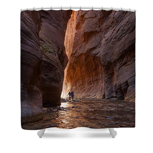 The Narrows 4 Shower Curtain
