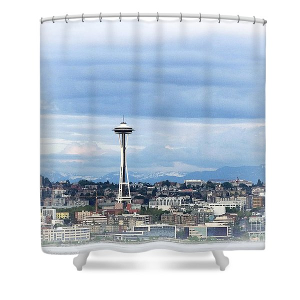 The Needle In Seattle Wa Shower Curtain