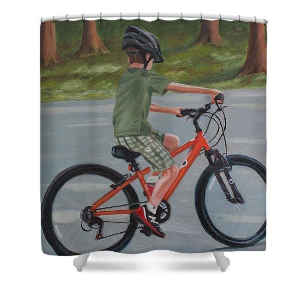 The New Bike Shower Curtain