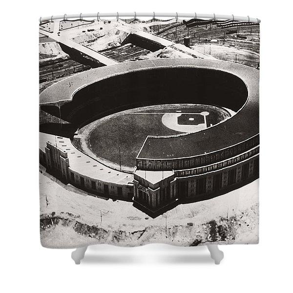The New Cleveland Stadium Shower Curtain