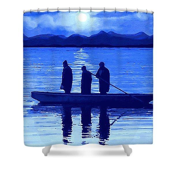 The Night Fishermen Shower Curtain