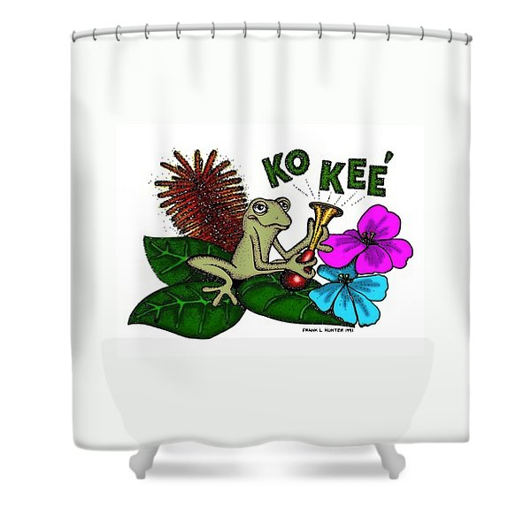 The Night Sound Of Puerto Rico Shower Curtain