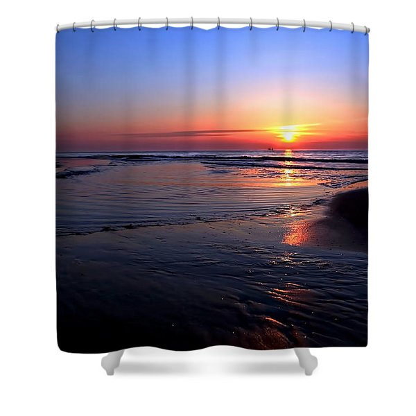 The North Sea Shower Curtain