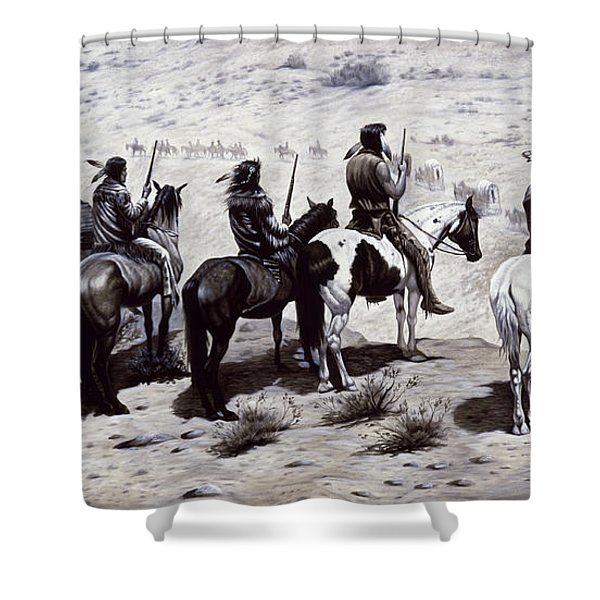 The Observers  Shower Curtain