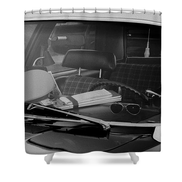Shower Curtain featuring the photograph The Office On Wheels by Jim Thompson