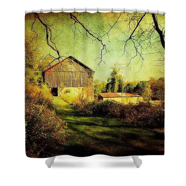 The Old Barn With Texture Shower Curtain