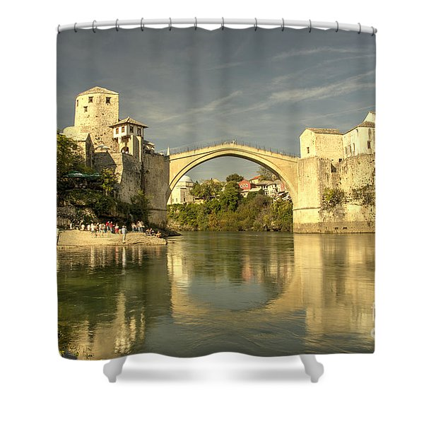 The Old Bridge At Mostar Shower Curtain