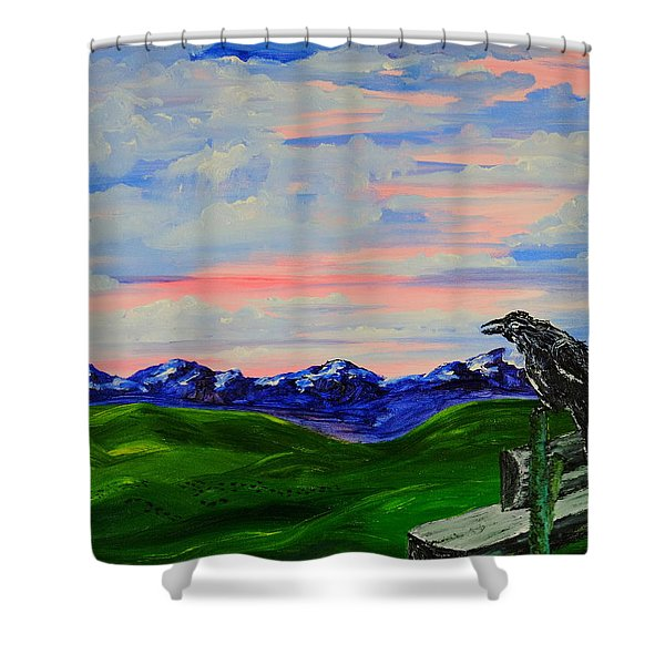 The Old Crow - Speaking Words Of Wisdom Shower Curtain