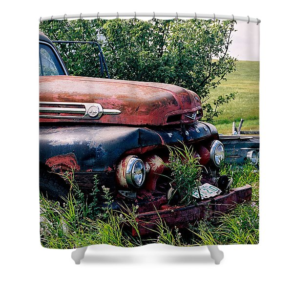 The Old Farm Truck Shower Curtain