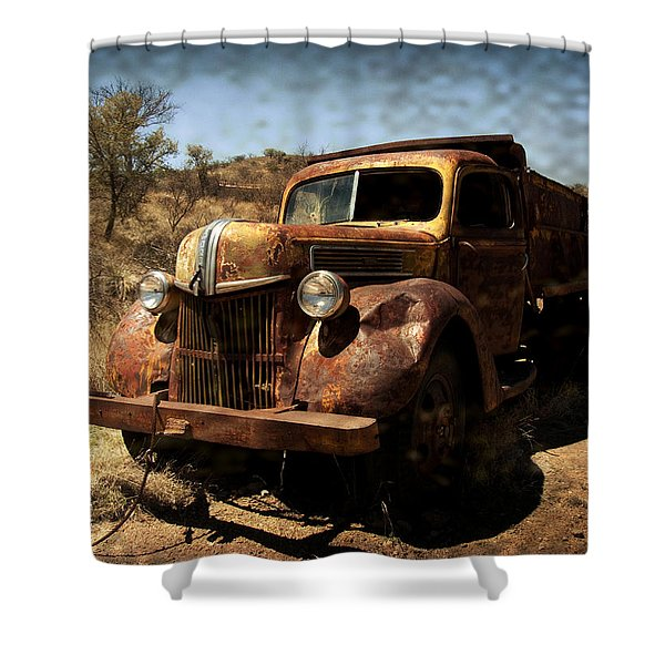 The Old Ford Shower Curtain