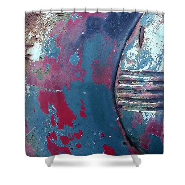 Shower Curtain featuring the photograph The Old Headlight by Karin Thue