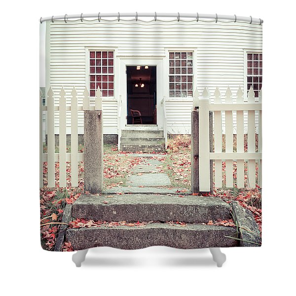 The Old Meeting House Canterbury Shaker Village Shower Curtain