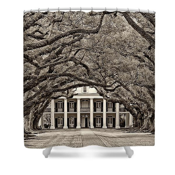 The Old South Sepia Shower Curtain
