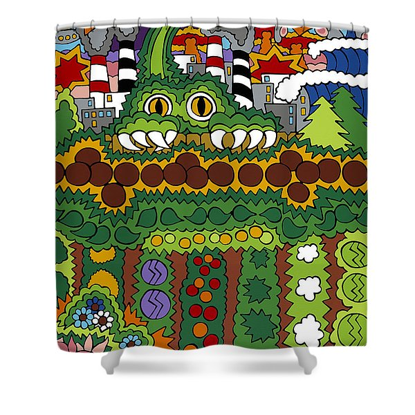 The Other Side Of The Garden  Shower Curtain