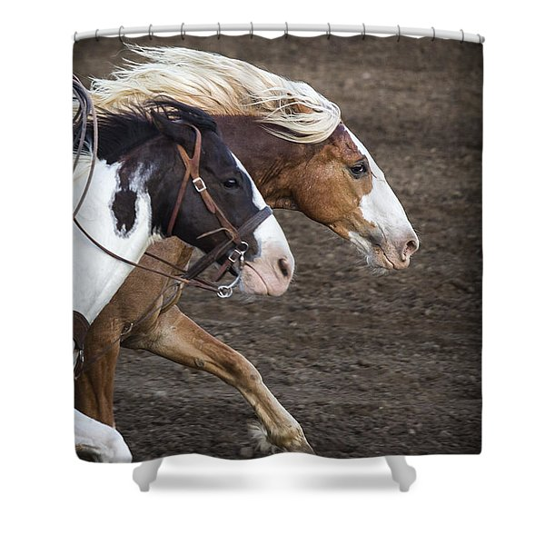 The Outlaw And The Law Shower Curtain