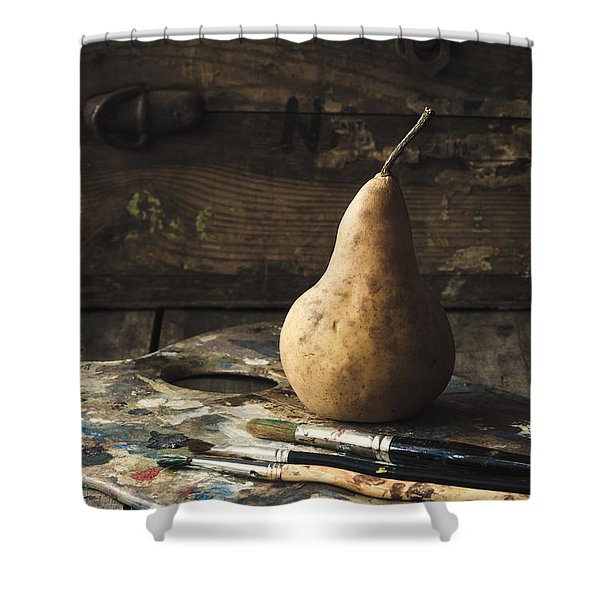 The Painter's Pear Shower Curtain