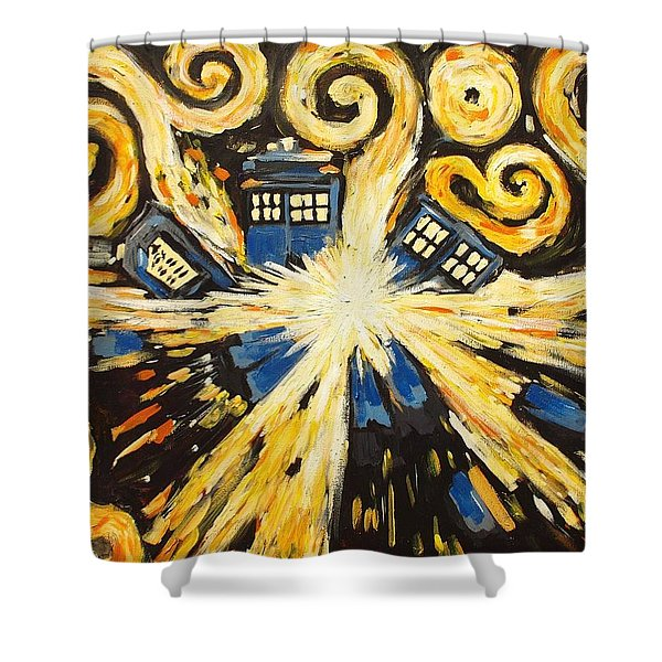 The Pandorica Opens Shower Curtain