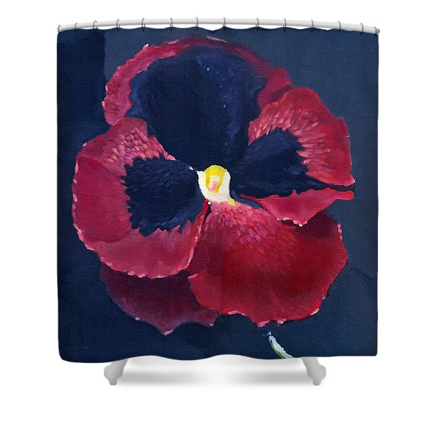 The Pansy Shower Curtain