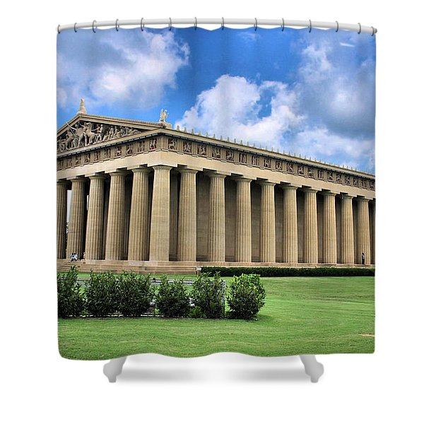 The Parthenon Shower Curtain