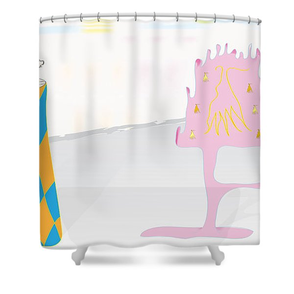 The Partygoers Shower Curtain