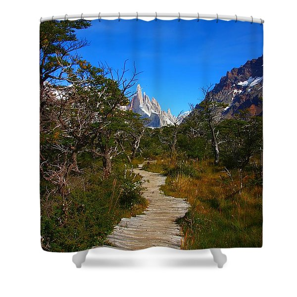 The Path To Mountains Shower Curtain