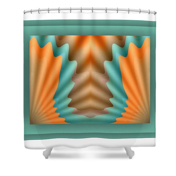 Shower Curtain featuring the digital art The Pendant by Mihaela Stancu
