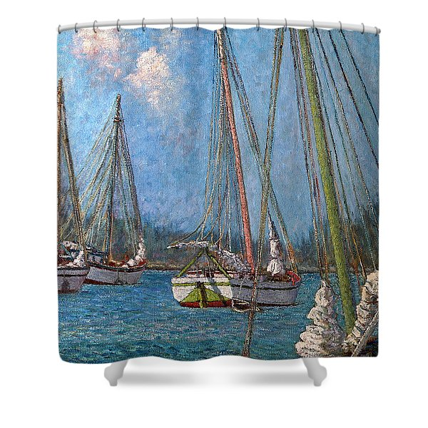 The Pink Mast Shower Curtain
