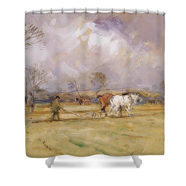 The Plough Team Shower Curtain