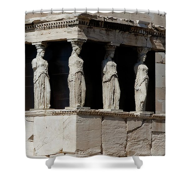 Shower Curtain featuring the photograph The Porch Of Maidens by Lorraine Devon Wilke