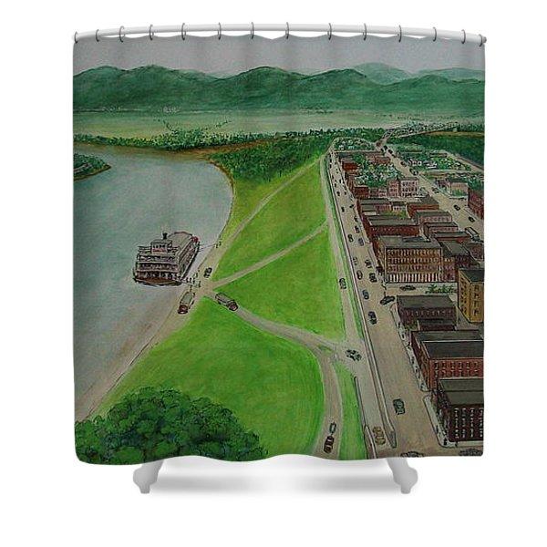 The Portsmouth Ohio Boneyfiddle District 1948 Shower Curtain