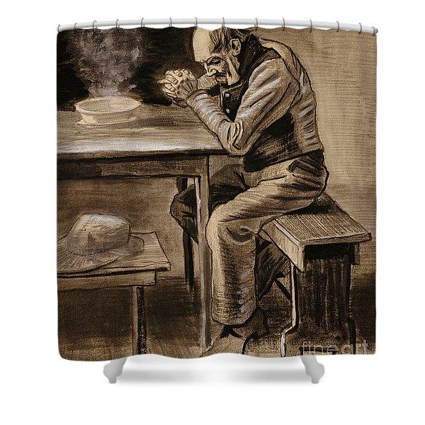 The Prayer Shower Curtain