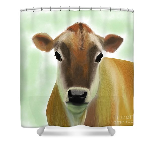 The Pretty Jersey Cow  Shower Curtain