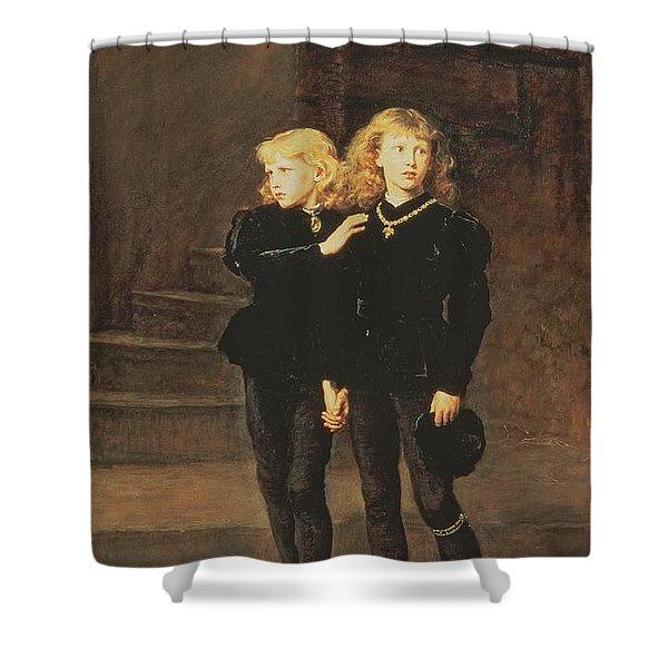 The Princes Edward And Richard Shower Curtain
