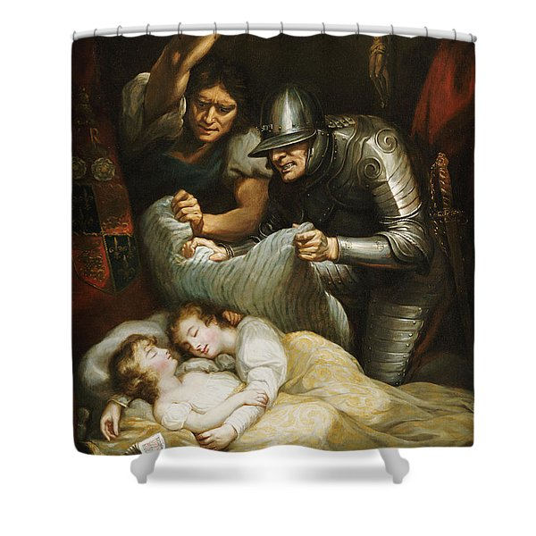 The Princes In The Tower Oil On Canvas Shower Curtain